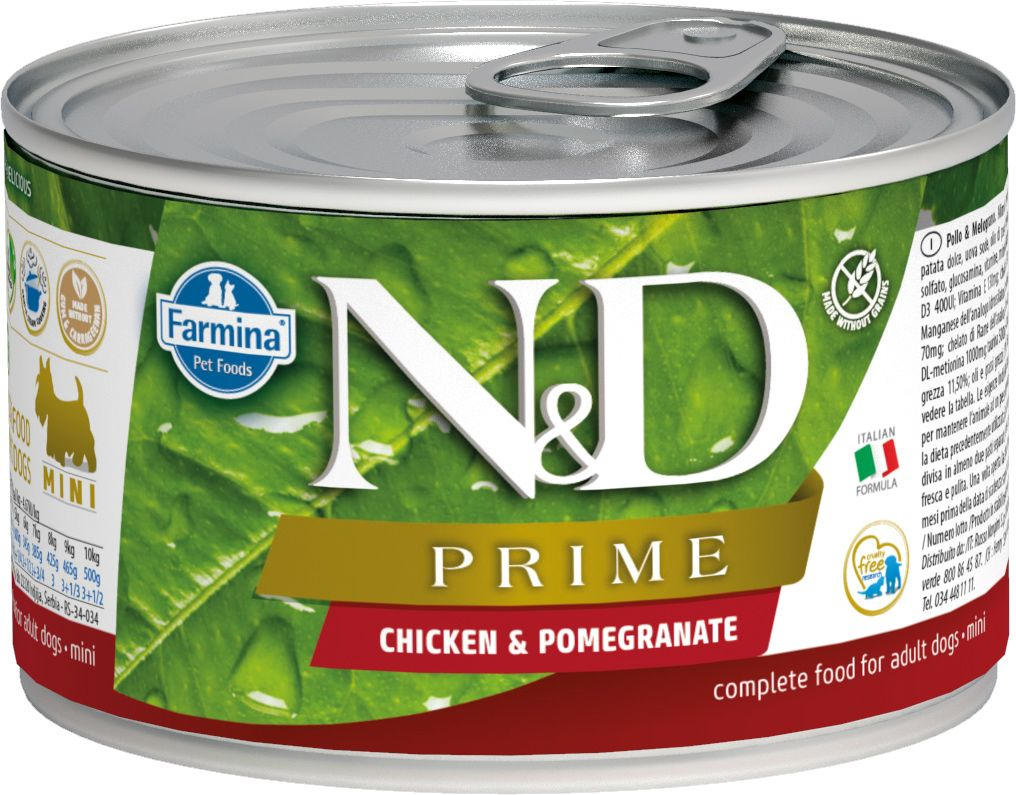 Farmina N&D Prime Dog mini Wet CHICKEN & POMEGRANATE 140 гр. 1233