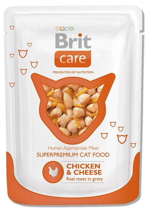 Brit Care Cat Pouches Chicken & Cheese 80 гр.