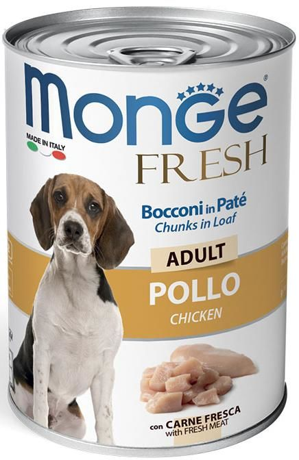 Monge Dog Fresh Chunks in Loaf Chicken 400 гр. 70014472