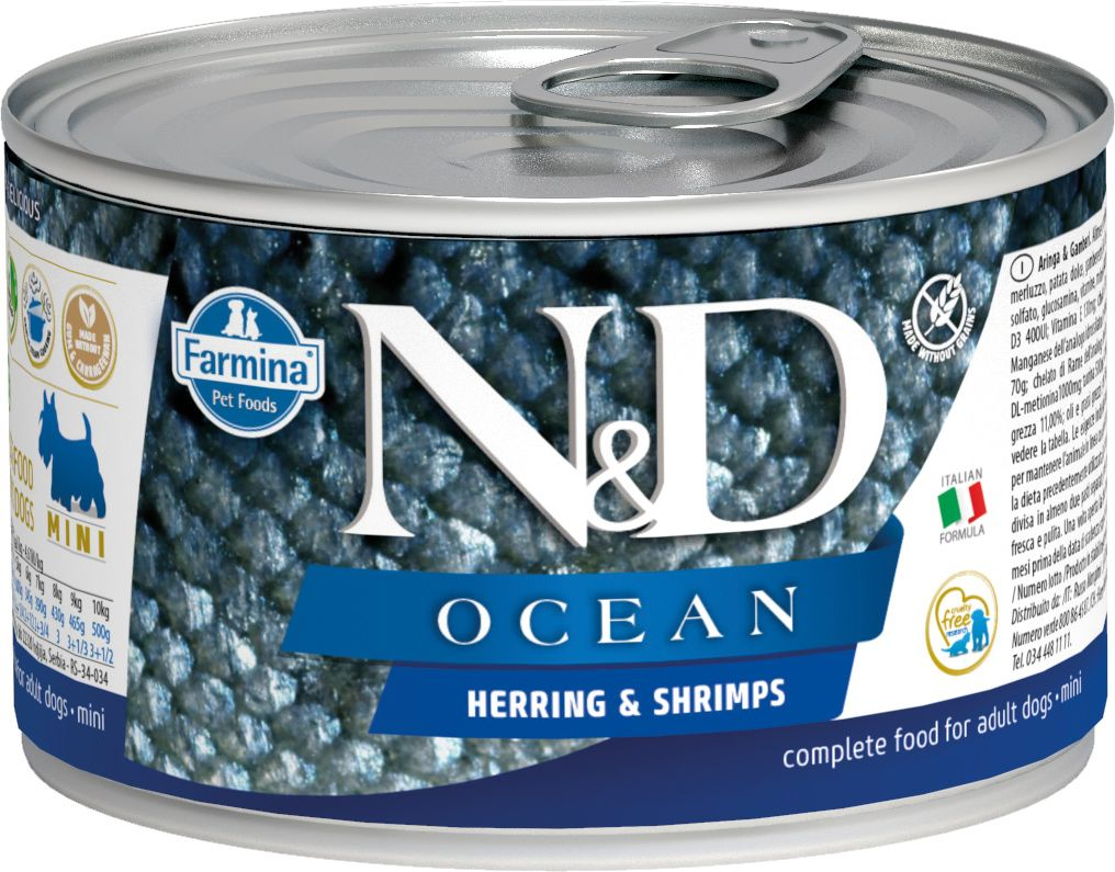 Farmina N&D Ocean Dog mini Wet HERRING & SHRIMPS 140 гр. 1227