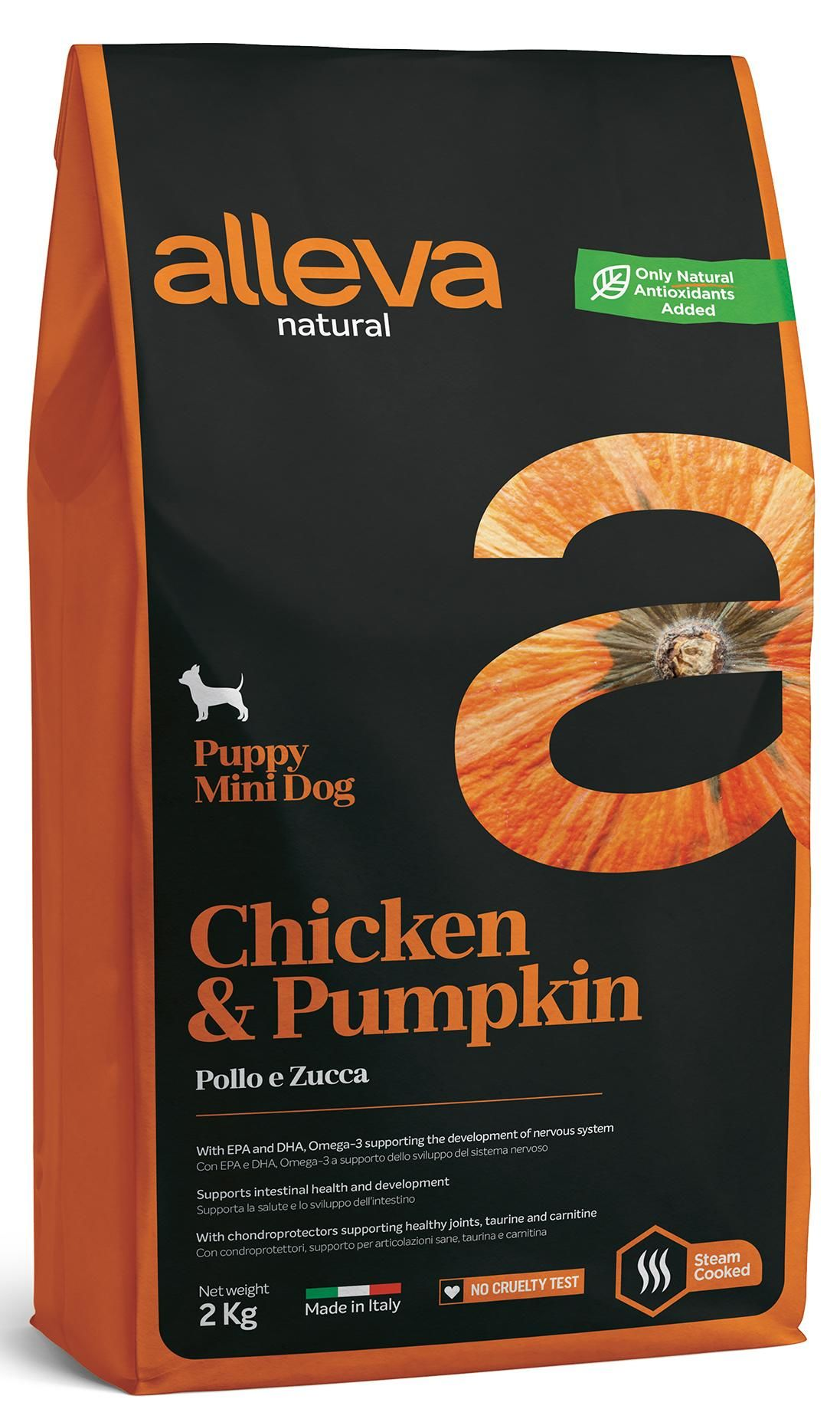 Alleva Natural Chicken & Pumpkin Puppy Mini