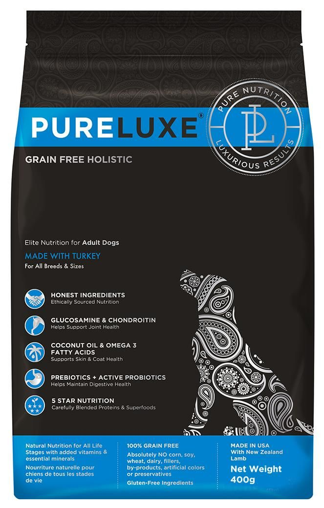 PureLuxe Elite Nutrition for adult dogs with turkey. Фото №2