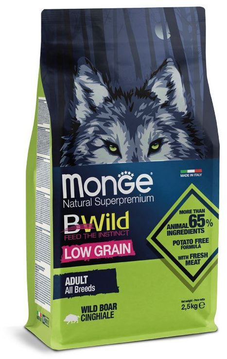 Monge Dog BWild LOW GRAIN adult all breeds WILD BOAR