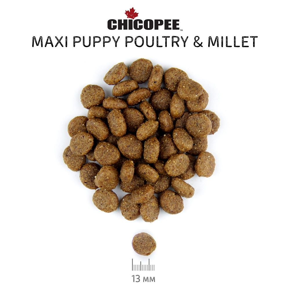 Chicopee CNL Maxi Puppy Poultry & Millet. Фото №2