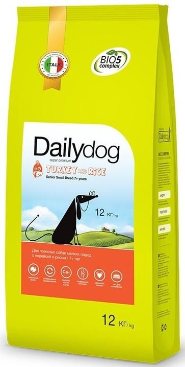 Dailydog Senior Small Breed Turkey and Rice