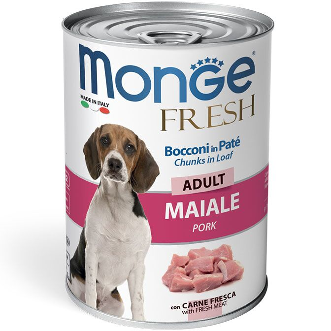 Monge Dog Fresh Chunks in Loaf Pork 400 гр.