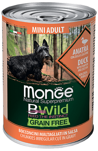 Monge Dog BWild Grainfree ADULT MINI Duck 400 гр. 70012638