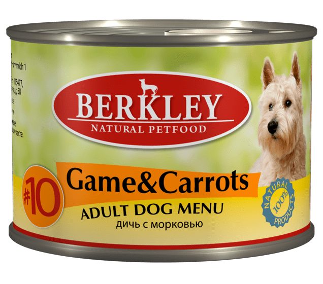Berkley Game & Carrots Adult Dog #10 200 гр. 12487