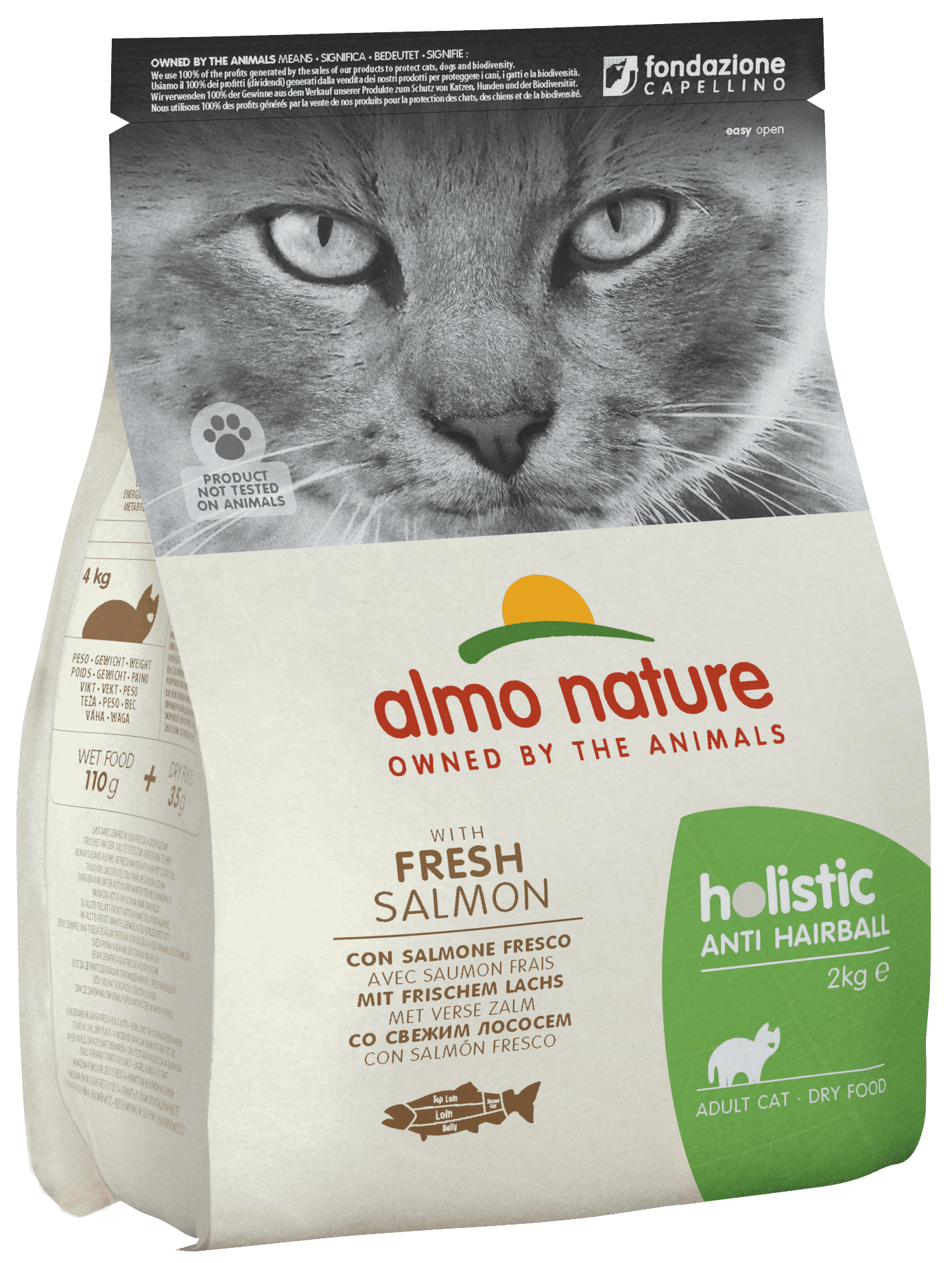 Almo Nature Functional Adult Anti-Hairball Fish and Potatoes