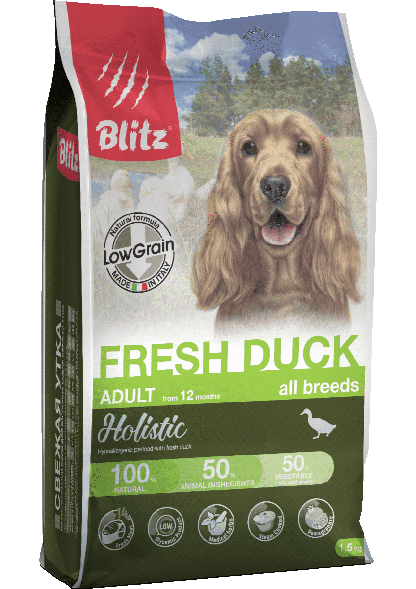 Blitz Holistic Fresh Duck All Breeds Low Grain