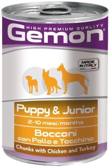 Gemon Dog Puppy&Junior chunks with chicken & turkey 415 гр.