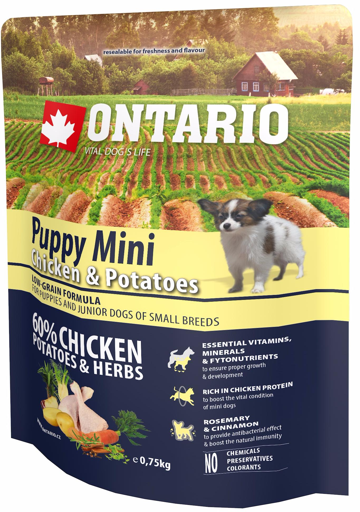 Ontario Puppy Mini chicken and potatoes