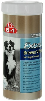 8in1 Excel Brewer's Yeast (for large breed) 80 таблеток 109525
