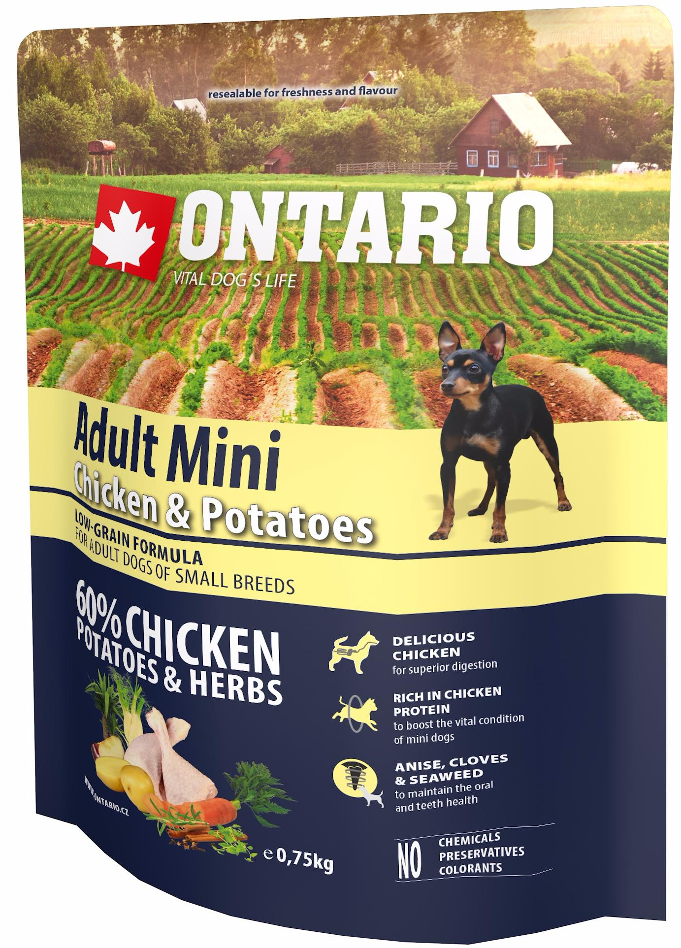 Ontario Adult Mini chicken and potatoes
