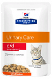 Hills Prescription Diet Feline c/d Stress Chicken 85 гр.