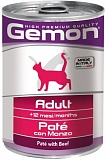 Gemon Cat Adult pate with beef 400 гр.