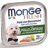Monge Dog Fresh Chicken and Vegetables 100 гр.