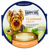 Happy Dog паштет телятина с рисом 85 гр. 40562