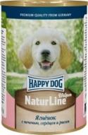 Консервы Happy Dog Аппетитный ягненок для щенков 400 гр.