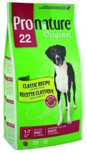 Pronature New 22 для собак с рисом и ягненком (18 и 12 кг крупные гранулы)