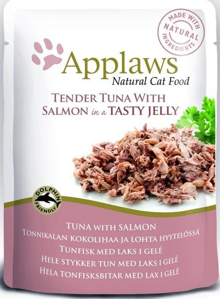 Applaws Cat pouch tuna wholemeat with salmon in jelly 70 гр. 24372