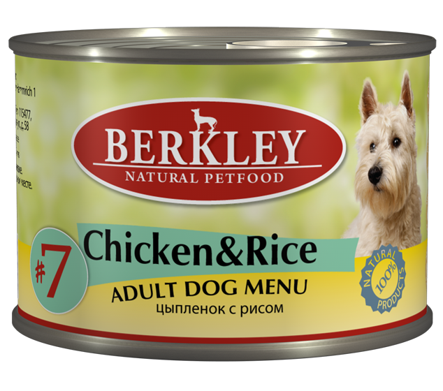 Berkley Chicken & Rice Adult Dog #7 12484
