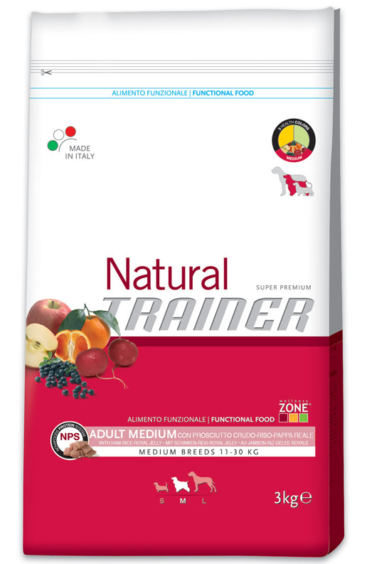 Trainer Natural Medium Adult Dry-Cured Ham, Rice and Royal Jelly