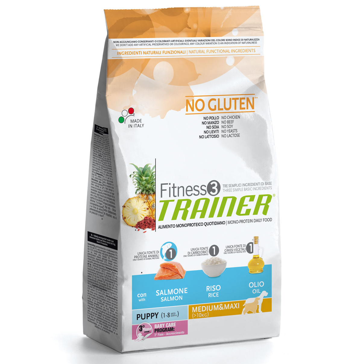 Trainer Fitness3 No Gluten Medium/Maxi Puppy Salmon and Rice 035550