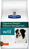Hill's Prescription Diet w/d Digestive/Weight Management dog