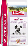 BioMill Swiss Professional Medium Junior Sensitive Lamb & Rice