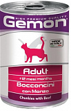 Gemon Cat Adult chunkies with beef 415 гр.