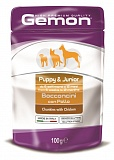 Gemon Dog Pouch Puppy&Junior with chunkies chicken